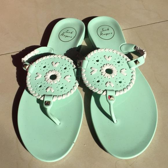 Sandals Clothing, Shoes & Accessories Jack Rogers Women's Jelly Sandal Georgica Black White Flip Flops Sz 11 Euc